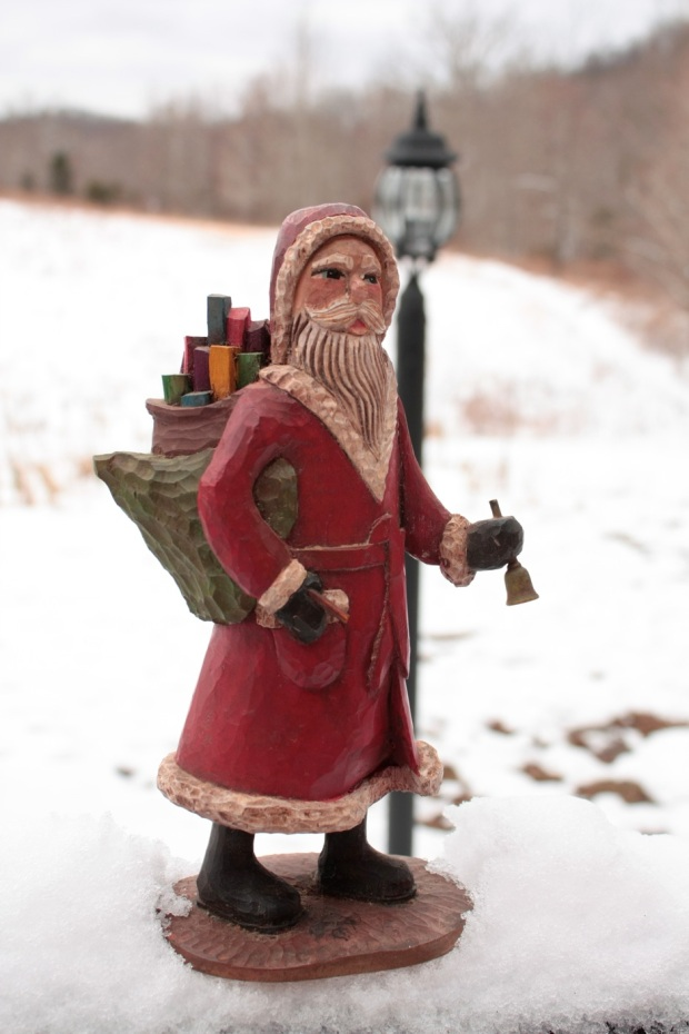 Hand-carved Santa by Joe Offerman