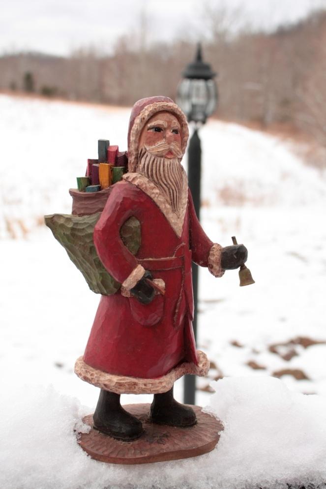 Hand-carved Santa by Joe Offerman